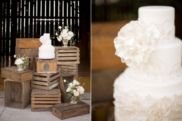 wood crates vintage wedding