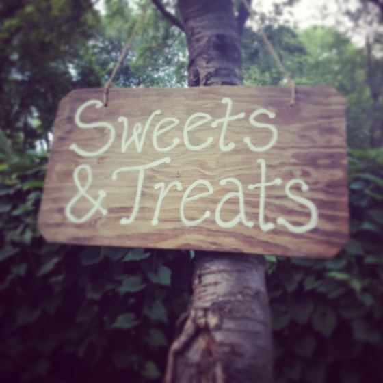Sweets and Treats Wood Sign Wedding